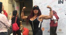 دينا عبد المقصود بطلة مصر في رياضة كمال الأجسام