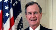 الرئيس الأمريكى الأسبق جورج بوش الأب