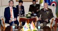 جانب من لقاءات الفريق أول محمد زكي يلتقي وزراء دفاع فرنسا واليونان وقبرص