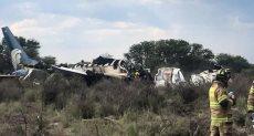 حطام الطائرة الطائرة المكسيكية المنكوبة