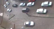 شوارع شبرا بدمنهور يتحول لبرك  بعد سقوط الأمطار