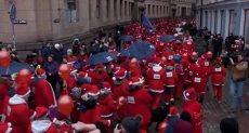 """مسيرة """"بابا نويل"""" الخيرية"""