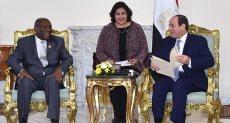 الرئيس السيسى ودانيال كابلان دينكان نائب رئيس جمهورية كوت ديفوار