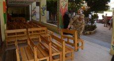 جانب من مساهمات القوات المسلحة فى رفع كفاءة المدارس