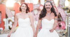 بريطانى يرتدى فستان فرح فى زفافه.