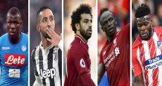 اللاعبين المرشحين للفوز بجائزة BBC لأفضل لاعب فى أفريقيا