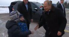 بوتين يحقق أمنية طفل مريض