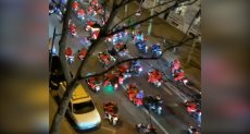 مسيرة بالدراجات نارية فى شوارع باريس