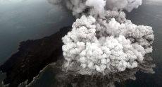 ثوران البركان فى إندونيسيا