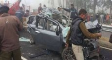 حادث تصادم 50 سيارة بسبب الضباب