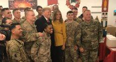 """""""ترامب"""" يوجه رسالة للعالم خلال زيارة مفاجئة للعراق"""