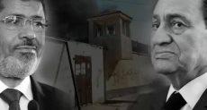 الرئيس الأسبق مبارك والمعزول محمد مرسى