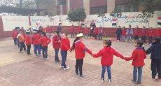 أطفال الروضة بمدرسة الإمام الشافعى