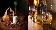 تناول القهوة و الكحول