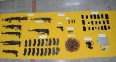 الأسلحة التى تم مصادرتها