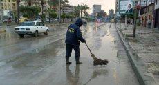 """أمطار فى الإسكندرية بسبب نوة """"الفيضة الكبرى"""""""