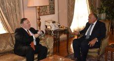 وزير الخارجية سامح شكرى مع وزير الخارجية الأمريكي مايك بومبيو