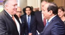 الرئيس السيسى ووزير الخارجية الأمريكي