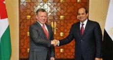 الرئيس السيسى والملك عبد الله العاهل الأردنى
