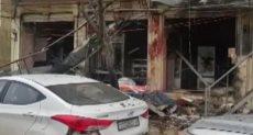 صورة لموقع التفجير الانتحاري بمدينة منبج السورية
