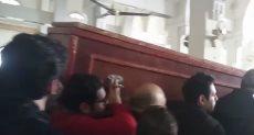 جانب من تشييع جثمان الفنان سعيد عبد الغنى