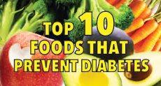 أفضل 10 أطعمة للوقاية من مرض السكر