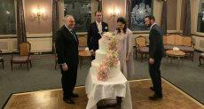عقد قران حفيدة الملك فاروق الأميرة فوزية