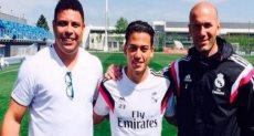 كريستيان بينافينتي لاعب منتخب البيرو مع الظاهرة رونالدو وزيدان