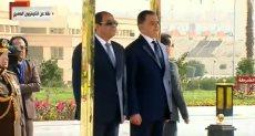 الرئيس السيسى واللواء محمود توفيق وزير الداخلية