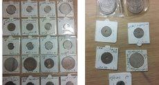 العملات الأثرية بعد ضبطها