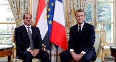 الرئيس السيسى ونظيره الفرنسي ايمانويل ماكرون