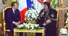 ماكرون مع البابا تواضروس