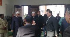 جانب من وصول وزير الأوقاف لمسجد الرحمن الرحيم