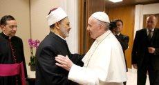 البابا فرنسيس وشيخ الأزهر