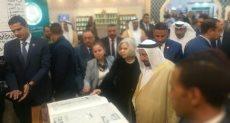 الشيخ سلطان القاسمى فى معرض الكتاب