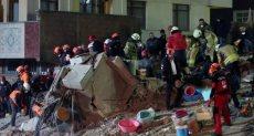 انهيار المبنى التركى
