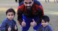حسين الشحات وأولاده آسر وأحمد