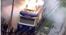 حريق بترام الأأسكندرية