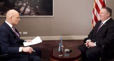 وزير الخارجية الأمريكية خلال لقاءه مع الحرة