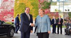 الرئيس السيسى يلتقى ميركل
