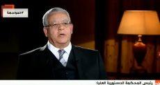 المستشار الدكتور حنفى جبالى رئيس المحكمة الدستورية العليا