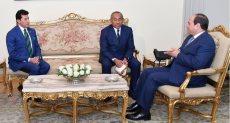 لقاء الرئيس السيسى مع رئيس الكاف