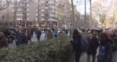 اشتباكات بين الشرطة الاسبانية ومحتجين فى برشلونة