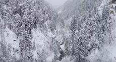 الانهيار الثلجي بجبال سويسرا