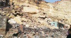 موقع انهيار صخرة منشأة ناصر