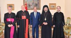 الرئيس السيسي يتسقبل الكاردينال ليوناردو ساندري