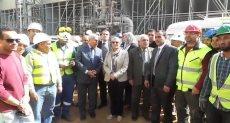 الدكتورة ياسمين فؤاد وزيرة البيئة تتفقد مصنع كيما الجديد فى أسوان