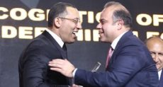 تكريم محمد فريد رئيس البورصة بحفل bt100