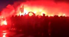جماهير باريس سان جيرمان تشعل الشماريخ