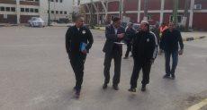 عامر حسين يتفقد استاد الاسكندرية